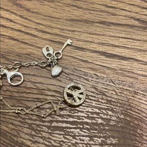FOSSIL necklace with lock and key pendant
